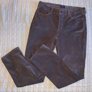 NYDJ taupe-brown corduroy jeans, size 10, EUC